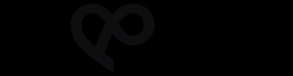Pootočený znak & z loga, ktorý pripomína srdce