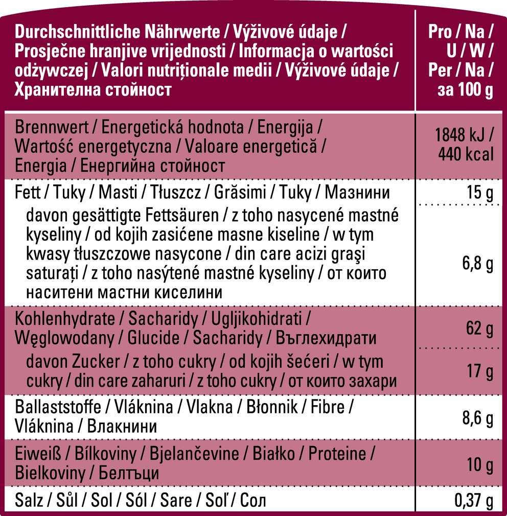 Abbildung des Sortimentsartikels K-Bio K-Bio Knusper-Müsli mit Früchten 500g