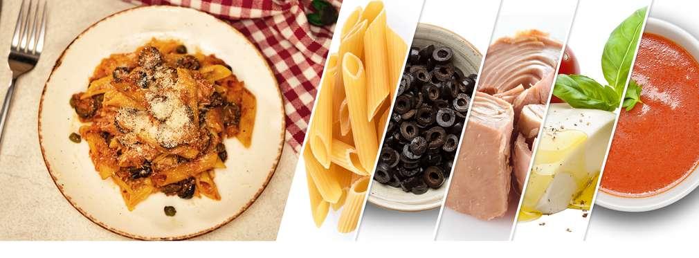 Изображение на рецепта на седмицата и продукти за нея