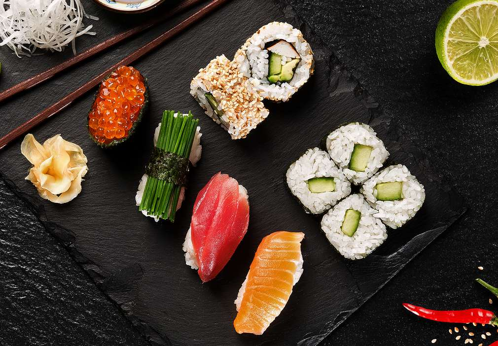 Изображение на различни видове суши