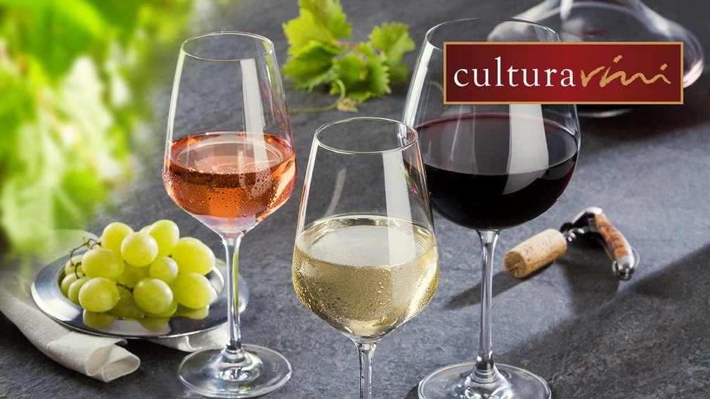 Снимка на хора с чаши вино