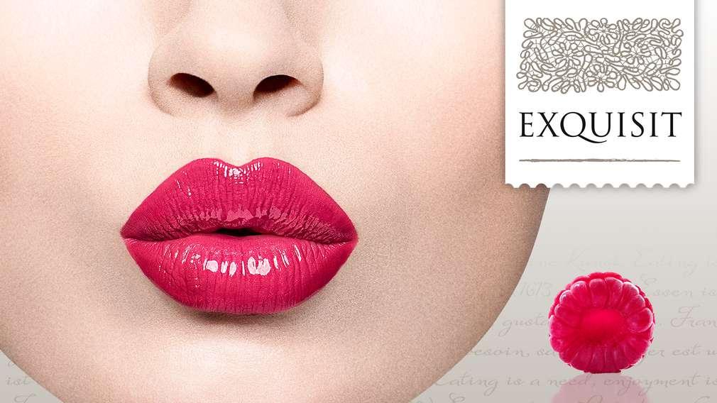 EXQUISIT - собствената марка на Kaufland, снимка с червени женски устни
