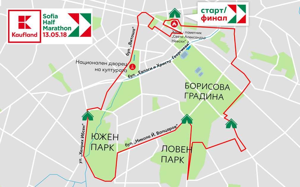 Карта на трасето с дължина 21 километра