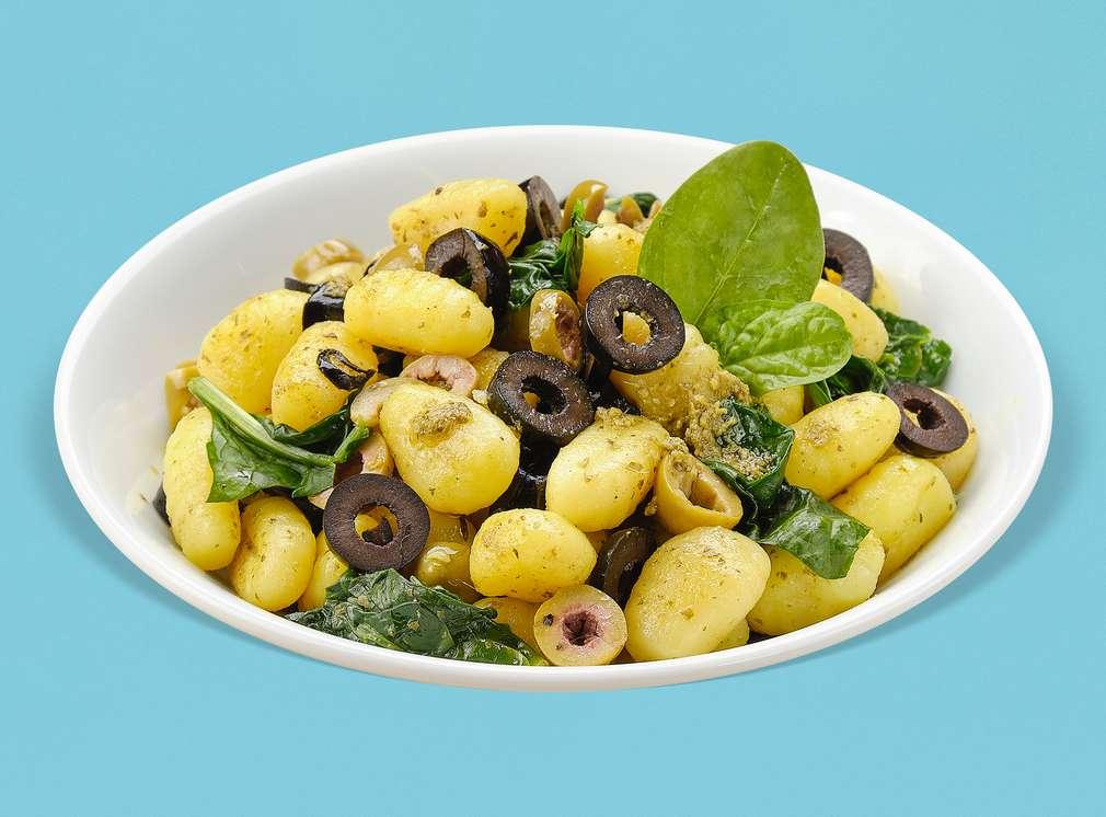 Задушени картофи с маслини