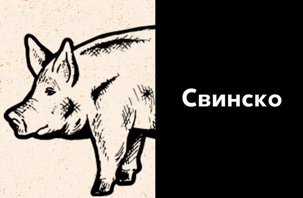 Скицирано изображение на живо прасе
