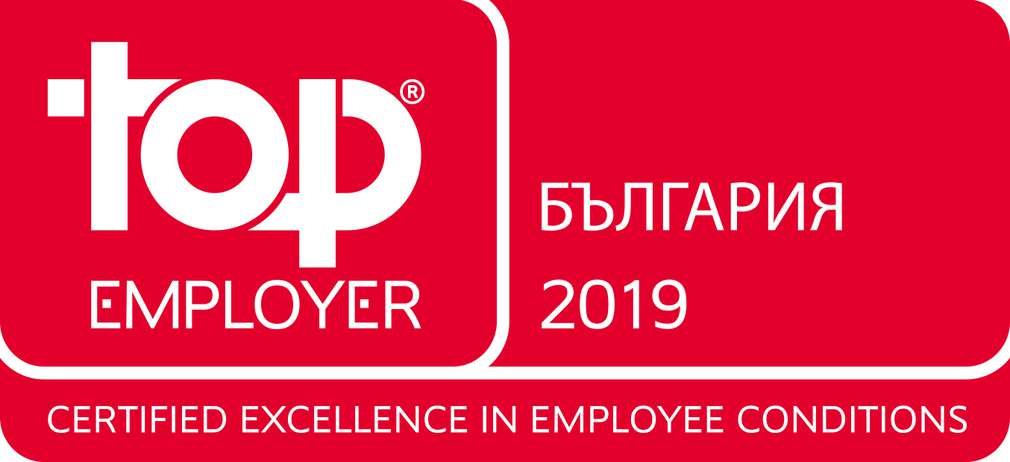 Изображение на сертификата Top Employer