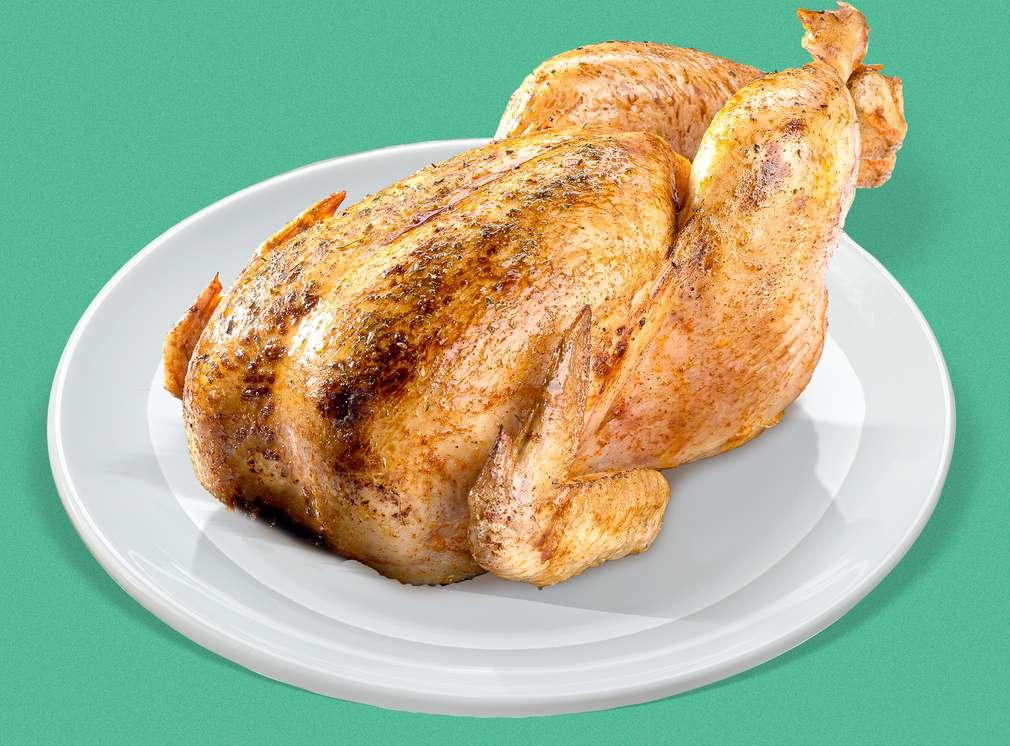 Мариновано печено пиле цяло