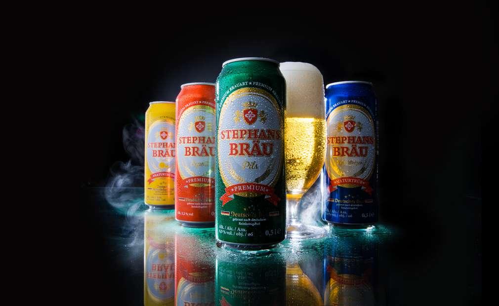 Изображение на различните видове бира Stephansbräu