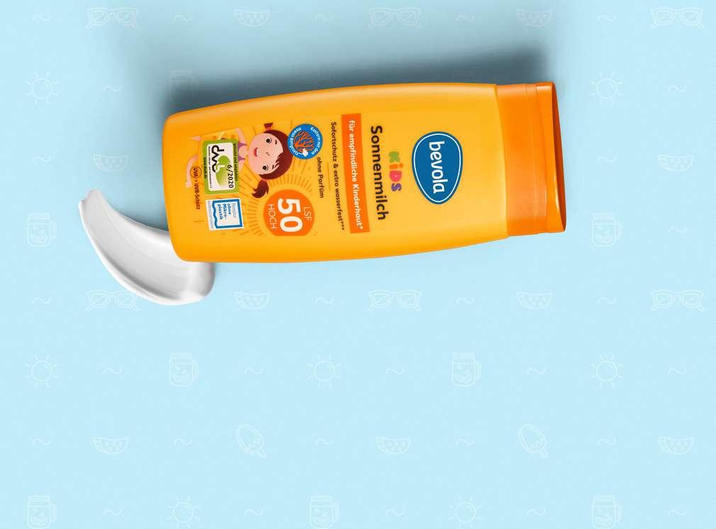 Изображение на слънцезащитен крем bevola със слънцезащитен фактор 50