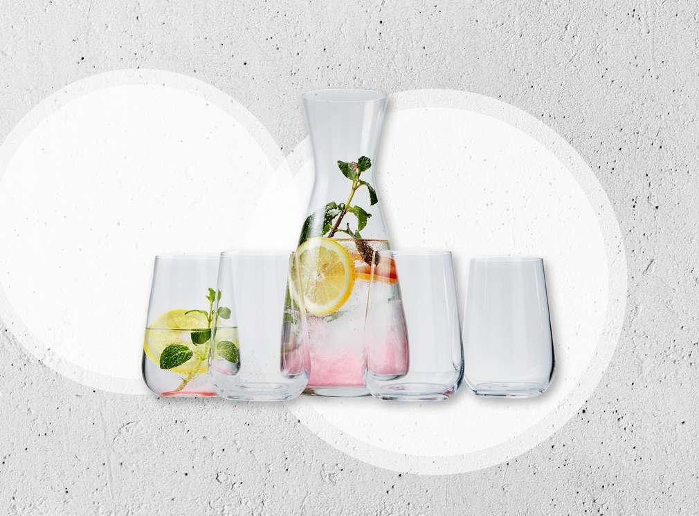 Изображение на стъклена гарафа със стъклени чаши Spice & Soul®