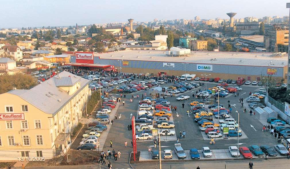 Снимка на първия магазин в Румъния