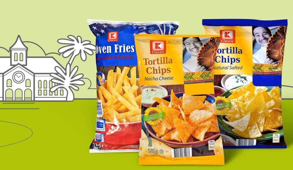 Различни чипсове с марката K-Classic