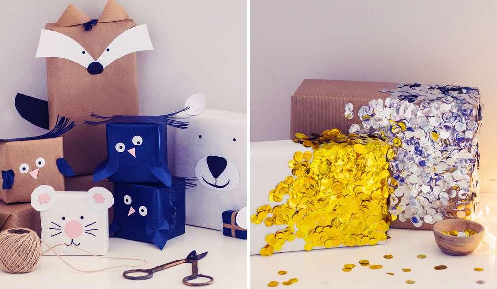 Коледни подаръци с интересни, ръчно направени опаковки