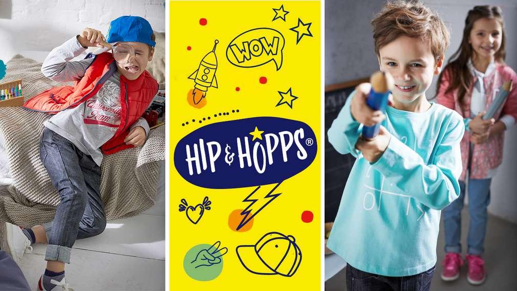 Изображение на деца, облечени в дрешки с марка Hip & Hopps® - собствената марка на Kaufland за детска мода