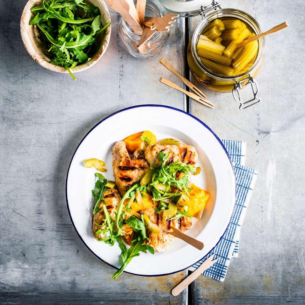 Zobrazit Buffalo kuřecí křidélka s mrkvovým pyré receptů