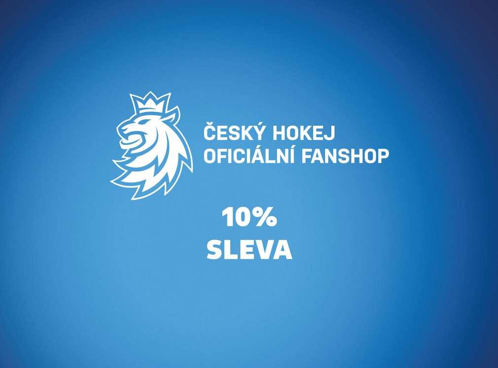 10% sleva v oficiálním fanshop českého hokeje