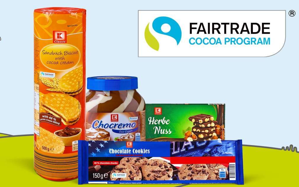 Sušenky a čokolády K-Classic obsahují kakao od pěstitělů z Fairtrade programu