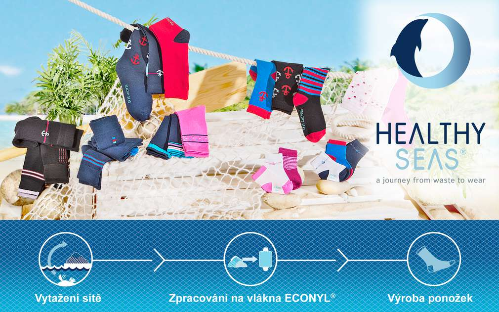Kvalitní ponožky se vyrábí z vlákna ECONYL z vytažených rybářských sítí