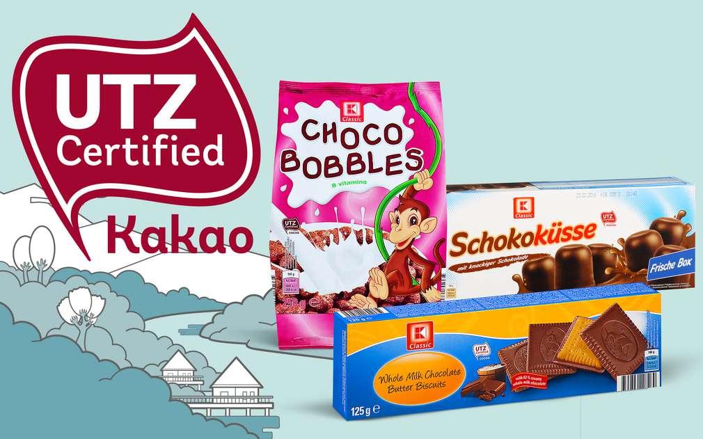Výrobky K-Classic z certifikovaného kakaa UTZ
