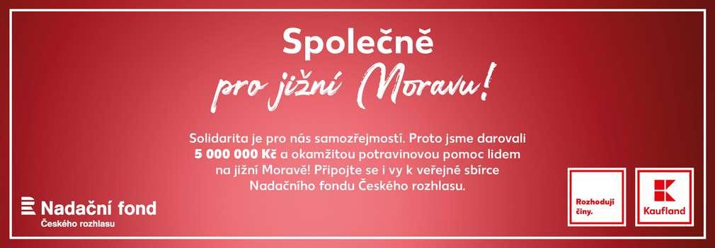 Veřejná sbírka pro jižní Moravu Nadačního fondu Českého rozhlasu