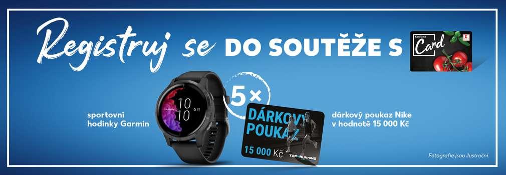Sportovní hodinky Garmin a Nike poukázka