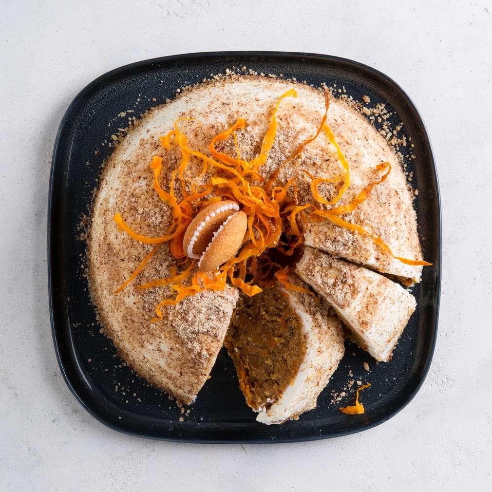 Pouštní mrkvový cheesecake