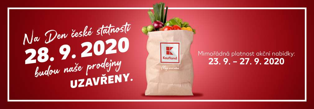 Papírová taška Kaufland s nákupem