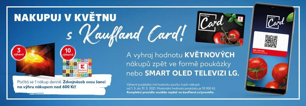 Kaufland Card, poukázka na nákup a mobilní telefon s aplikací Kaufland