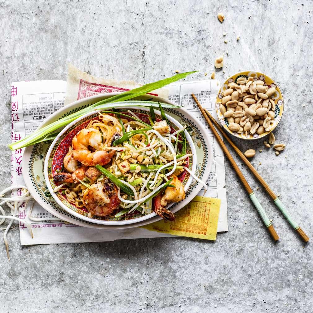 Zobrazit Pad Thai s tofu a krevetami receptů