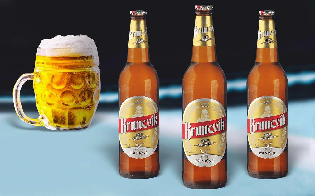 Pšeničné pivo Bruncvík s typickou chutí