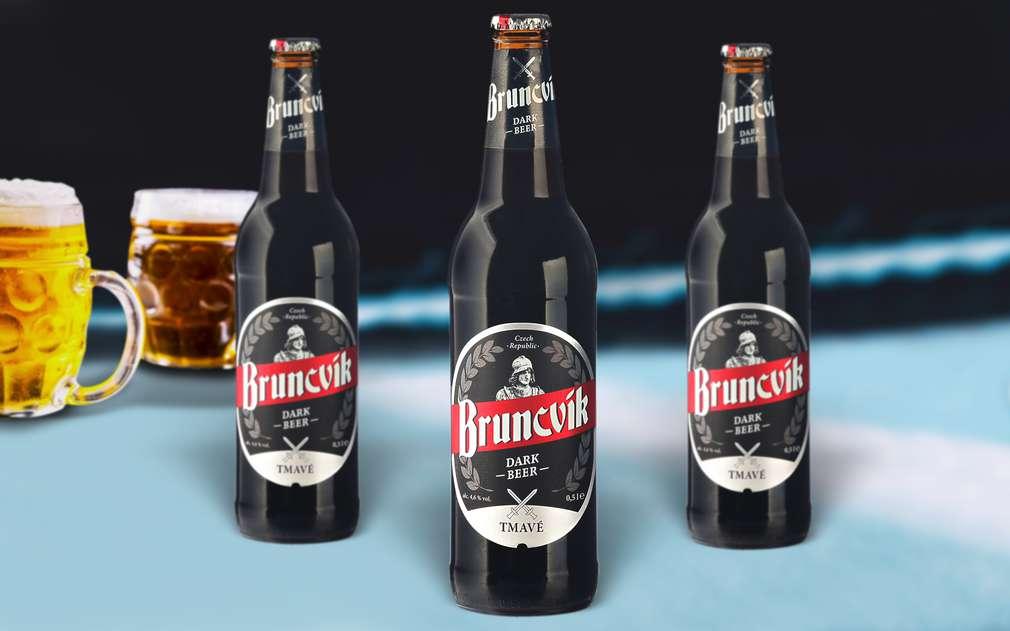 Tmavé pivo Bruncvík s nasládlou chutí po ječmeni