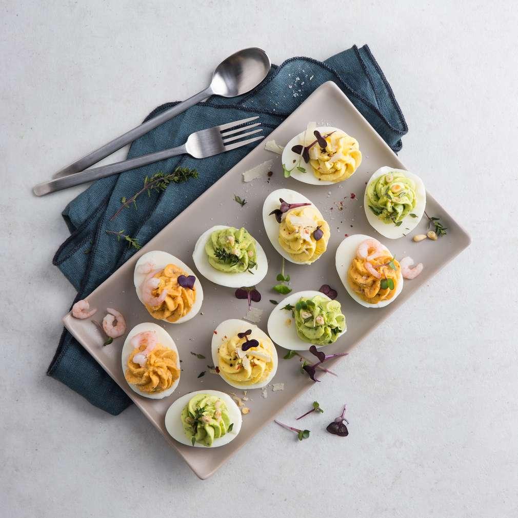 Zobrazit Plněná vejce na tři způsoby receptů