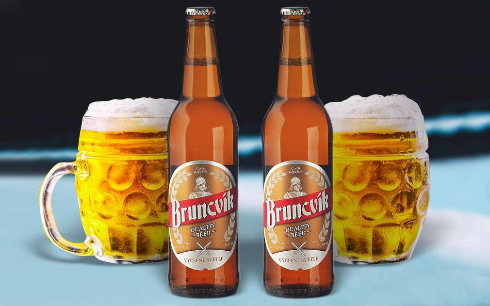 Lehké světlé výčepní pivo Bruncvík