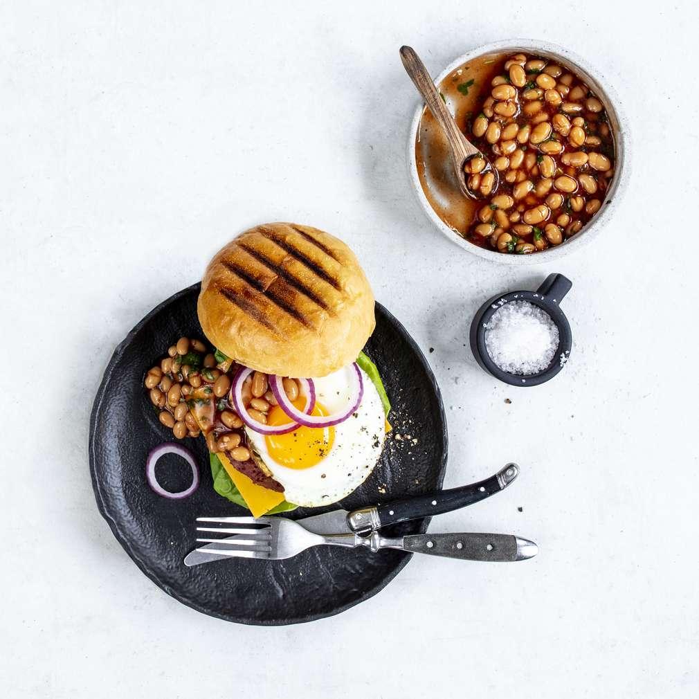 Zobrazit Beyond snídaňový burger receptů