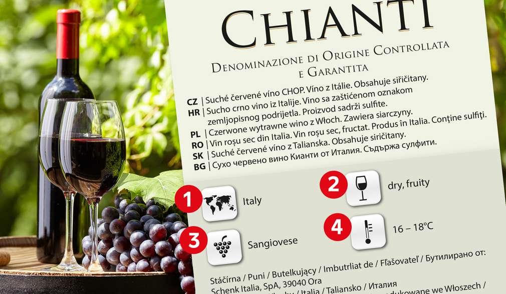 Dobré víno vyberete podle etikety
