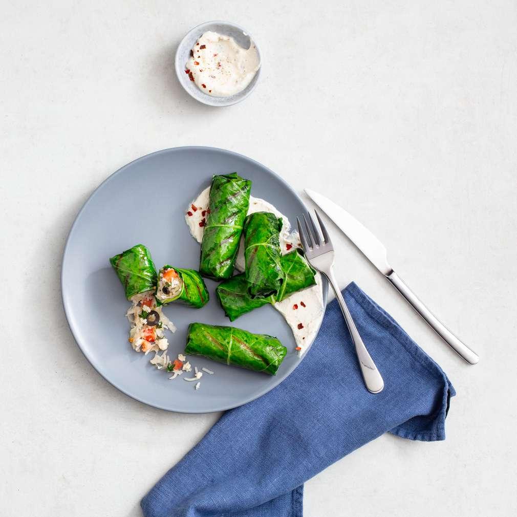 Zobrazit Závitky z kedlubnových listů receptů
