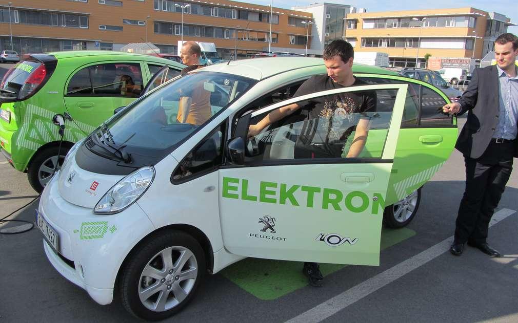 Zkušební jízda v elektromobilu