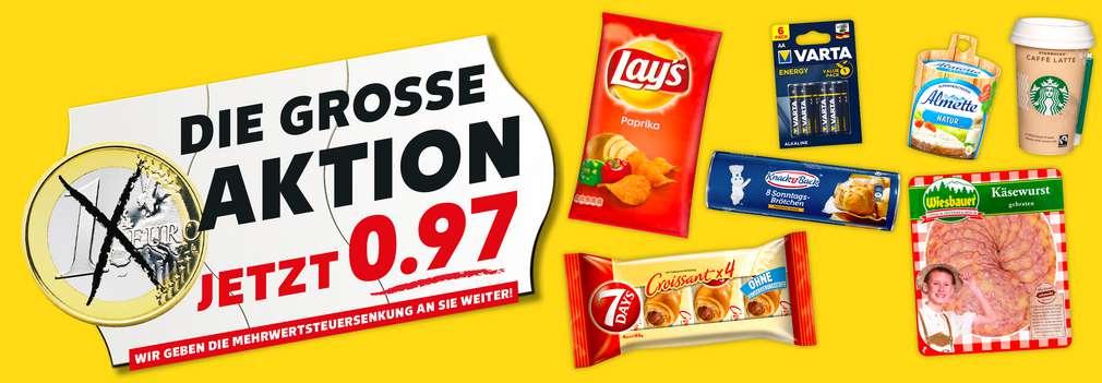 Produktabbildung versch. Artikel ab 0.97 Euro; Die große Aktion