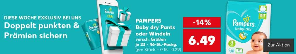 Aktion: Punkten mit der Pampers-App
