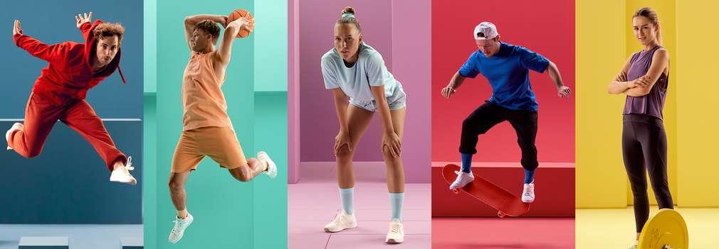 Изображение на хора, които спортуват.