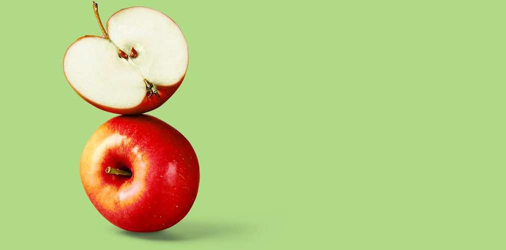 gestapelte Äpfel