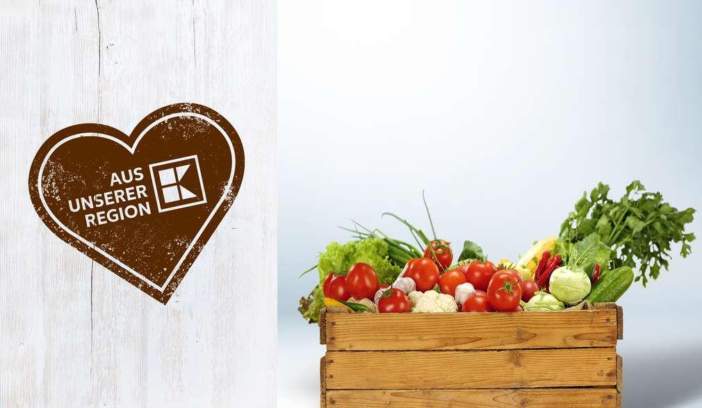 Gites aus der Heimat: Kiste mit regionalem Gemüse