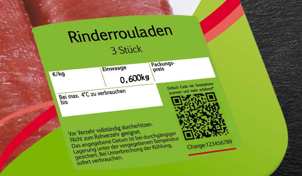 QR-Code auf dem Etikett einer K-Purland Frischebox