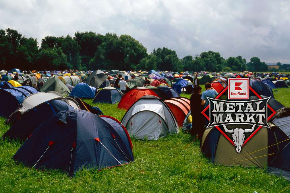 Zeltplatz auf einem Festival