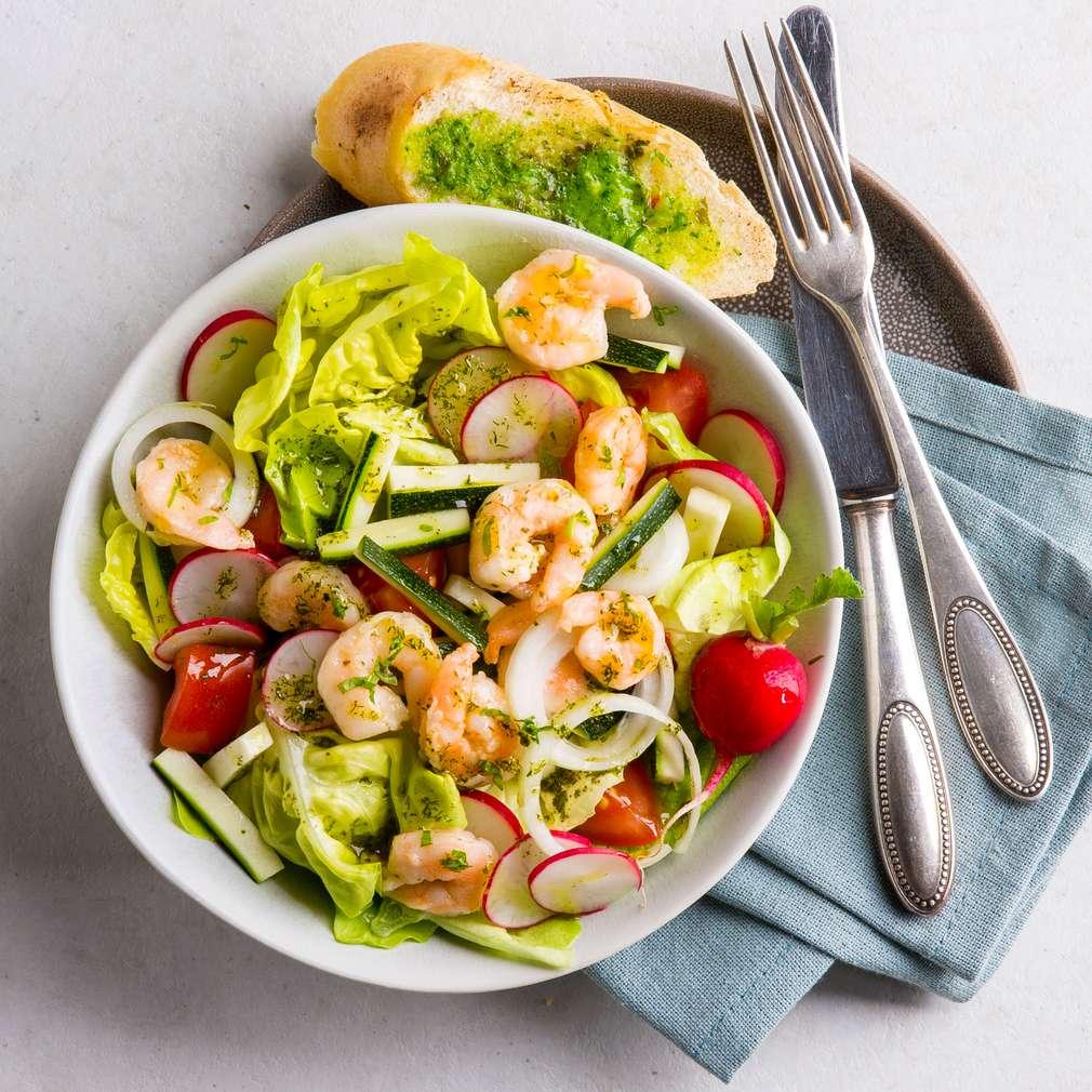 Abbildung des Rezepts Feinschmeckersalat mit Garnelen