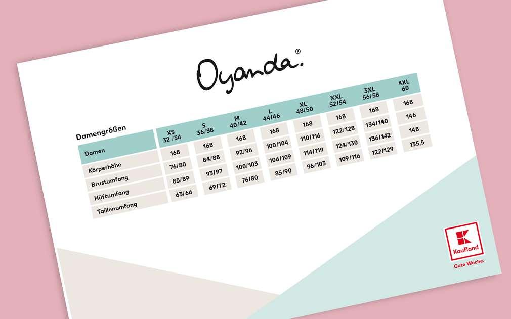 Größentabelle Oyanda®