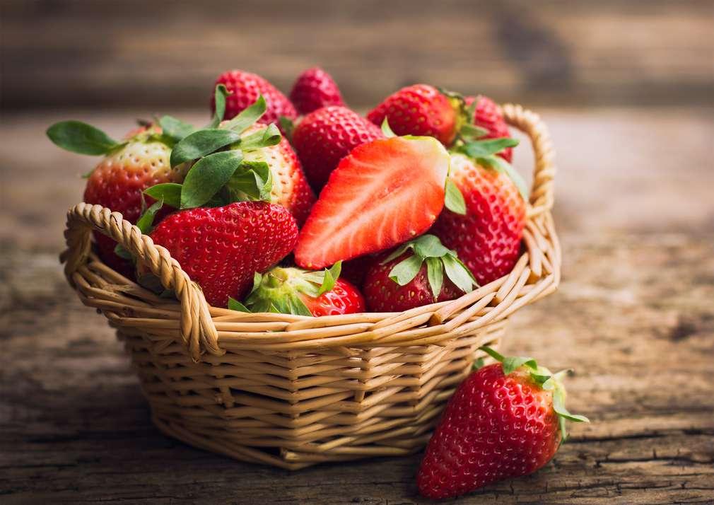 Frische Erdbeeren - gesund und lecker