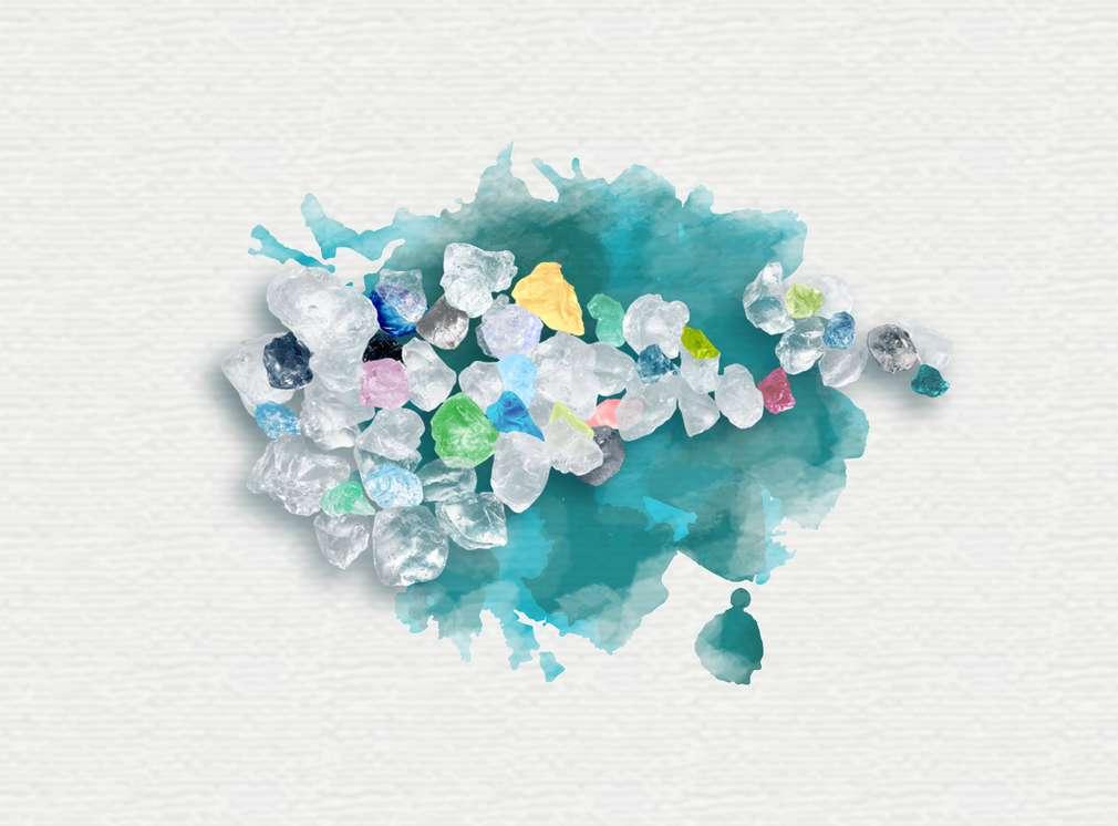 Изображение на частици микропластмаса