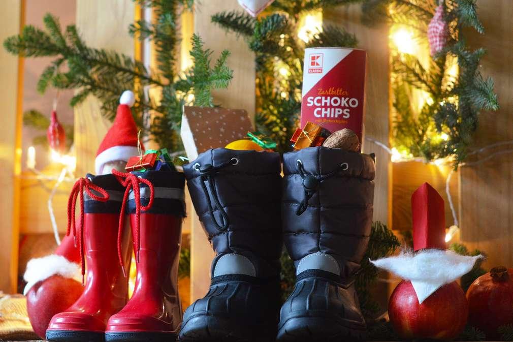Befüllte Stiefel zum Nikolaustag