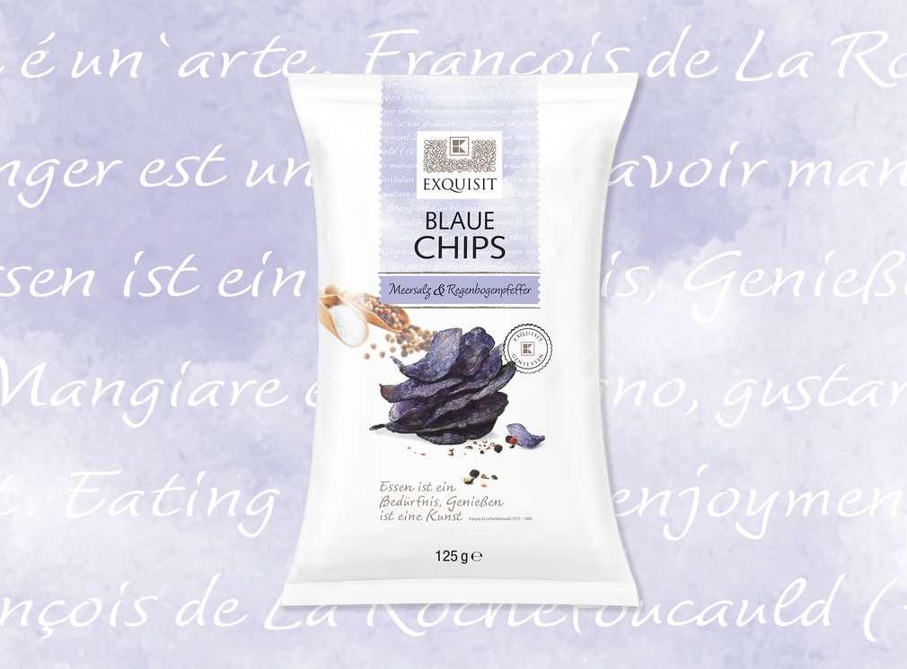 Blaue Chips von EXQUISIT
